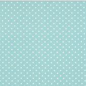 Mini Dot Canal White Twill Fabric