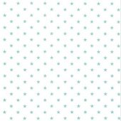 Mini Star White Canal Twill Fabric