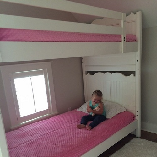 Bubble Gum Minky Bunk Bed Hugger Comforters