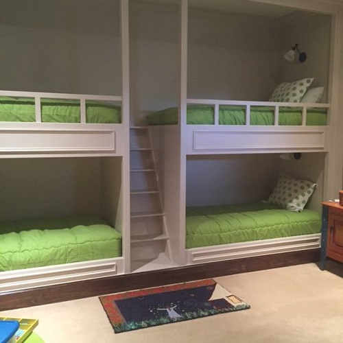 Chartreuse & White Bunk Bed Huggers