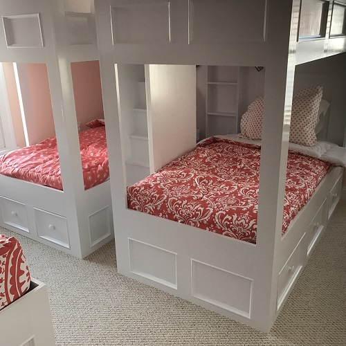 Coral White Bedding for Bunk Beds