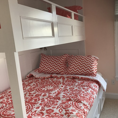 Coral White Bunk Bed Bedding