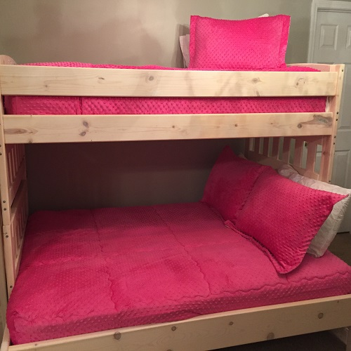 Hot PInk MInky Bunk Bed Hugger