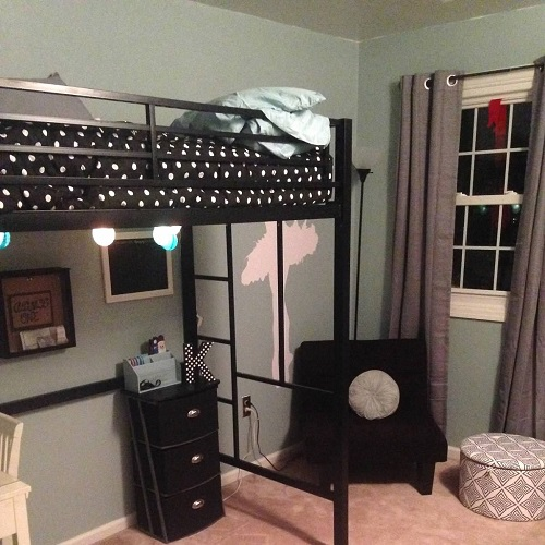 Metro Black and White Polka Dot Bunk Bed Hugger