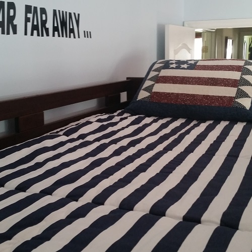 Navy and White Bunk Bed Hugger Fitted Comforter