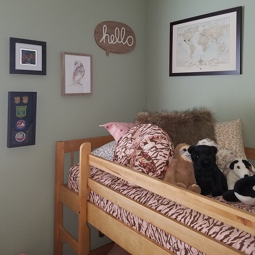 Pebbles Zebra Bunk Bed Hugger and Coordinating Pillows