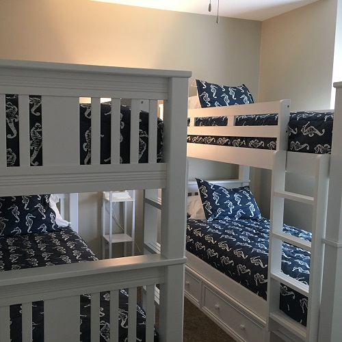 Premier Navy Sea Horses Bunk Bed Huggers