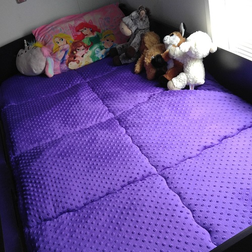 Purple MInky Bunk Bed Hugger Comforter