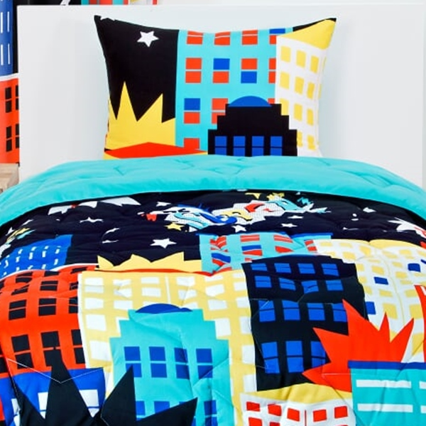 Be Super Bed Cap Comforter Set Super Hero Fitted Bedding