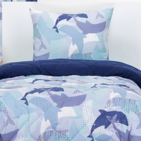 Life's Porpoise Bunk Bed Cap Comforter Set or Zipper Bedding Bunkie