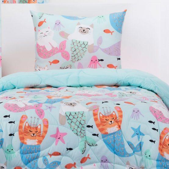 Purrmaids Bunk Bed Cap Comforter Set or Zipper Bedding Bunkie