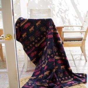 Black Denali Lake Throw Blanket