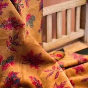 Falling Leaves Throw Blanket