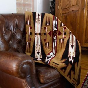 Horse Theives Brown Throw Blanket