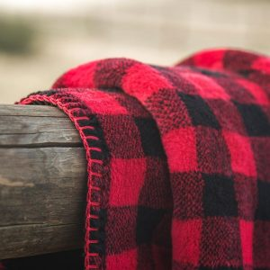 Red Black Buffalo Check Throw Blanket
