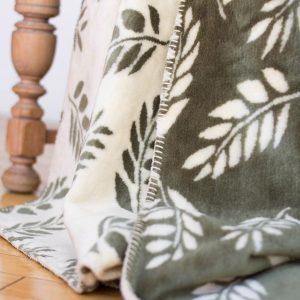 Sage Fern Throw Blanket