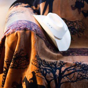 Sunset Cowboys Throw Blanket