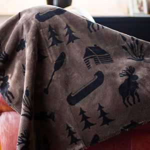 Taupe Camp Throw Blanket