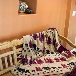 Wheat Denali Bear Throw Blanket