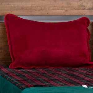 Classic Plaid Fitted MicroPlush Bedspread Top Fabric with Sham