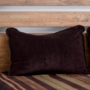 Dark chocolate Stripe Fitted MicroPlush Bedspread Top Fabric with Sham