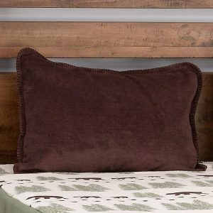 Pearl Denali Bear Fitted MicroPlush Bedspread Top Fabric with Sham