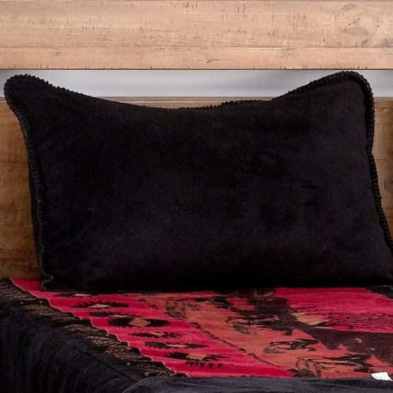 Red Running Horses Fitted MicroPlush Bedspread Top Fabric with Sham