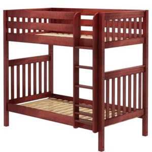 Twin High Bunk Bed Chestnut Slat
