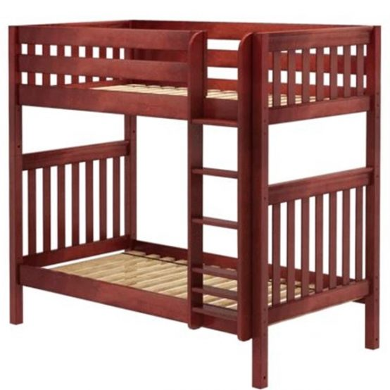 Twin High Bunk Bed Chestnut Slat