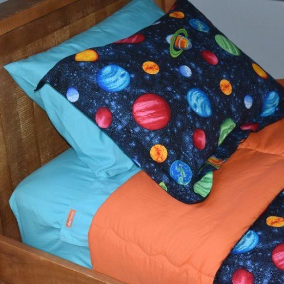 Aqua Zipper Sheets 100 Cotton