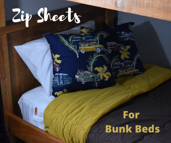 Zipper Sheets for Bunk Beds