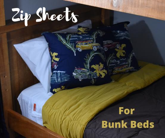 Zipper Sheets for Bunk Beds